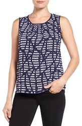 Anne Klein Women's Print Front Shell Navy Combo