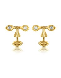 Bernard Delettrez Osvaldo Piercing Gold Earrings