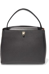 Valextra Brera Textured Leather Tote Gray