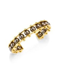 Lele Sadoughi Concrete Jungle Round C Slider Bracelet Gold