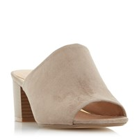 Head Over Heels Narcissa Block Heel Mule Beige
