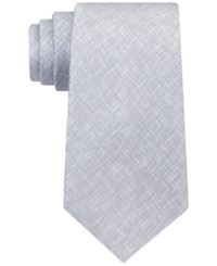 Kenneth Cole Reaction Men's Double Texture Solid Tie Silver