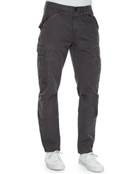 J Brand Collins Cargo Pocket Utility Jogger Pants Dark Gray
