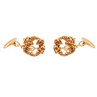 Lee Renee Rose Halo Cufflinks Rose Gold Pink Purple Red