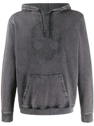 Hydrogen Faded Look Hoodie Grey
