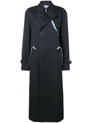 Maison Martin Margiela Long Sleeved Waterrepellent Trenchcoat Black