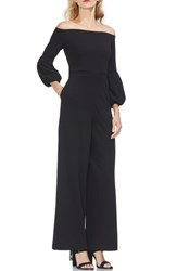 Vince Camuto Puff Sleeve Off The Shoulder Jumpsuit Rich Black