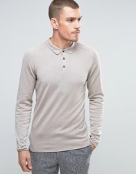 Selected Homme Long Sleeve Knitted Polo Dove Stone