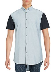 Zanerobe Regular Fit Colorblock Cotton Sportshirt Light Grey