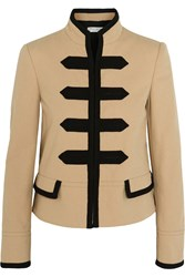 Philosophy Di Lorenzo Serafini Embroidered Cotton Blend Canvas Jacket Sand