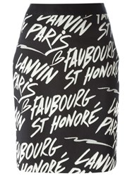 Lanvin Logo Mini Skirt Black