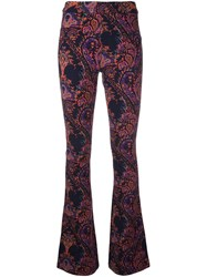 Balmain Pierre Flared Paisley Trousers Yellow And Orange