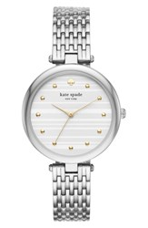 Kate Spade Space New York Varick Bracelet Watch 36Mm Silver