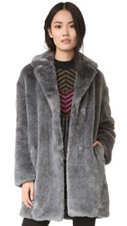 Whistles Cocoon Coat Grey