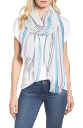 Nordstrom 'S Yarn Dyed Stripe Wrap Blue Combo Fresh Stripes