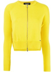 Dsquared2 Skinny Side Slit Cardigan Yellow Orange
