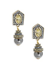 Heidi Daus Deco Drop Rhinestone And Crystal Earrings Gold