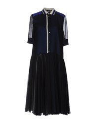 Bouchra Jarrar Knee Length Dresses Dark Blue