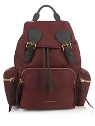 Burberry Medium Nylon Backpack Burgundy