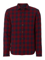 Army And Navy Check Classic Fit Long Sleeve Button Down Shirt Navy