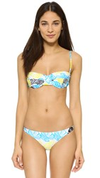 Milly Banana Leaf Maxine Underwire Bikini Top Azure