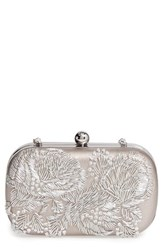 La Regale Floral Metallic Embroidered Clutch