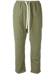 Freecity Drawstring Cropped Pants Green
