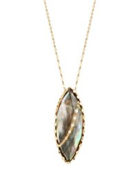 Lana 14K Mystiq Black Mother Of Pearl Pendant Necklace