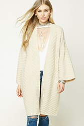 Forever 21 Textured Knit Cardigan Taupe