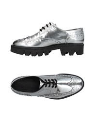 Pertini Lace Up Shoes Silver