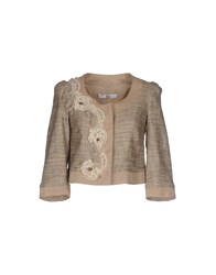X's Milano Suits And Jackets Blazers Women Beige