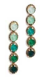 Elizabeth Cole Von Earrings Green