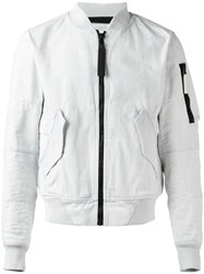 G Star Denim Bomber Jacket White