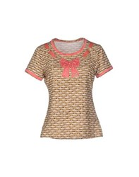 Vdp Beach Topwear T Shirts Women Beige
