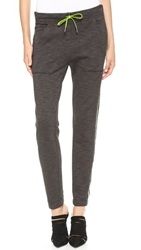 Alexander Wang Melange Fleece Sweatpants Charcoal