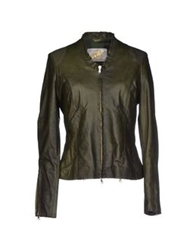Vintage De Luxe Jackets Dark Green