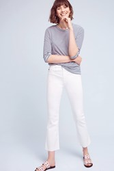 Anthropologie Ag Jodi High Rise Kick Flare Jeans White