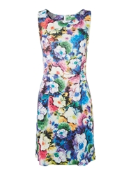 John Zack Sl Bodycon Floral Print Dress Multi Coloured