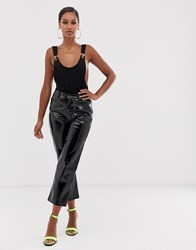 Lioness Marry The Night Vinyl Trouser In Black