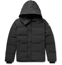 Canada Goose Macmillan Slim Fit Quilted Shell Hooded Down Parka Black