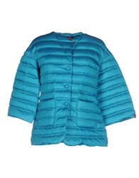 313 Tre Uno Tre Down Jackets Turquoise