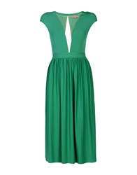 Space Style Concept 3 4 Length Dresses Green
