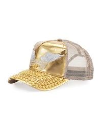 Robin's Jean Golden Studded Bill Baseball Cap Gold