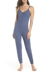 Make Model Hacci Lounge Jumpsuit Blue Chambray Marl