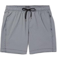 Onia Mid Length Gingham Swim Shorts Navy