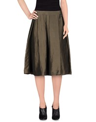 Pauw Skirts Knee Length Skirts Women Military Green