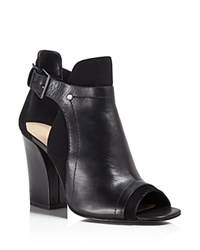 Pour La Victoire Faze Open Toe High Heel Booties Black