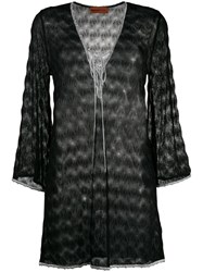 Missoni Mare Embroidered Flared Blouse Black