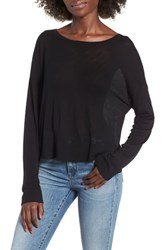 Leith Lightweight Pullover Sweater Black