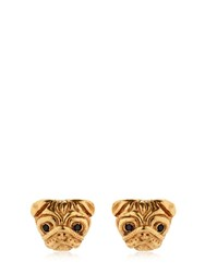 Mg Trends Gold Plated Silver Pug Earrings